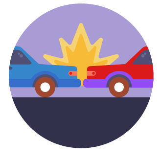 icon of cars colliding